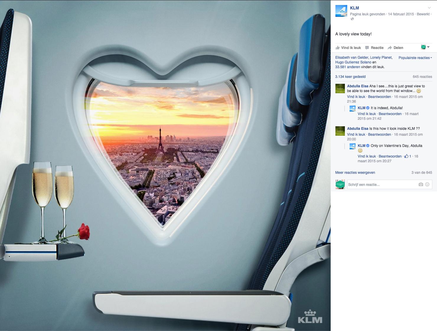 KLM Facebook likes